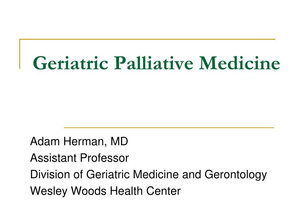geriatric palliative medicine l.