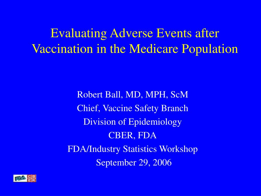 Evaluating Adverse Events after Vaccination in the Medicare Population