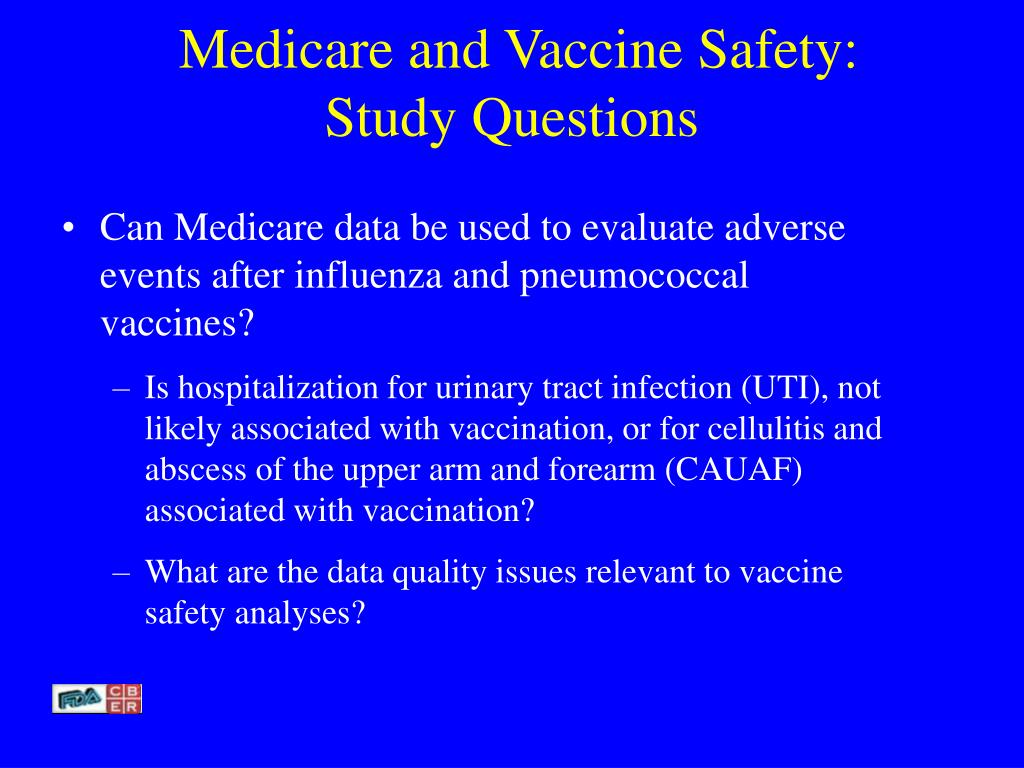 Medicare and Vaccine Safety: