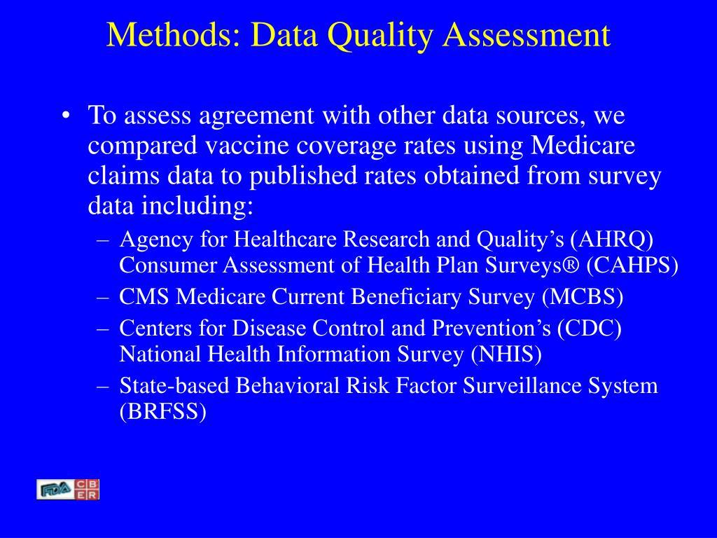 Methods: Data Quality Assessment