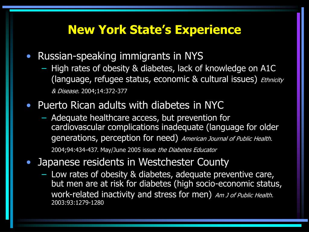 New York State's Experience