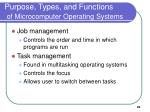 purpose types and functions of microcomputer operating systems29