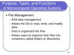 purpose types and functions of microcomputer operating systems31