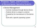purpose types and functions of microcomputer operating systems32