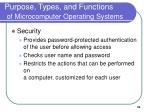 purpose types and functions of microcomputer operating systems33