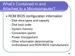 what s contained in and attached to a microcomputer20