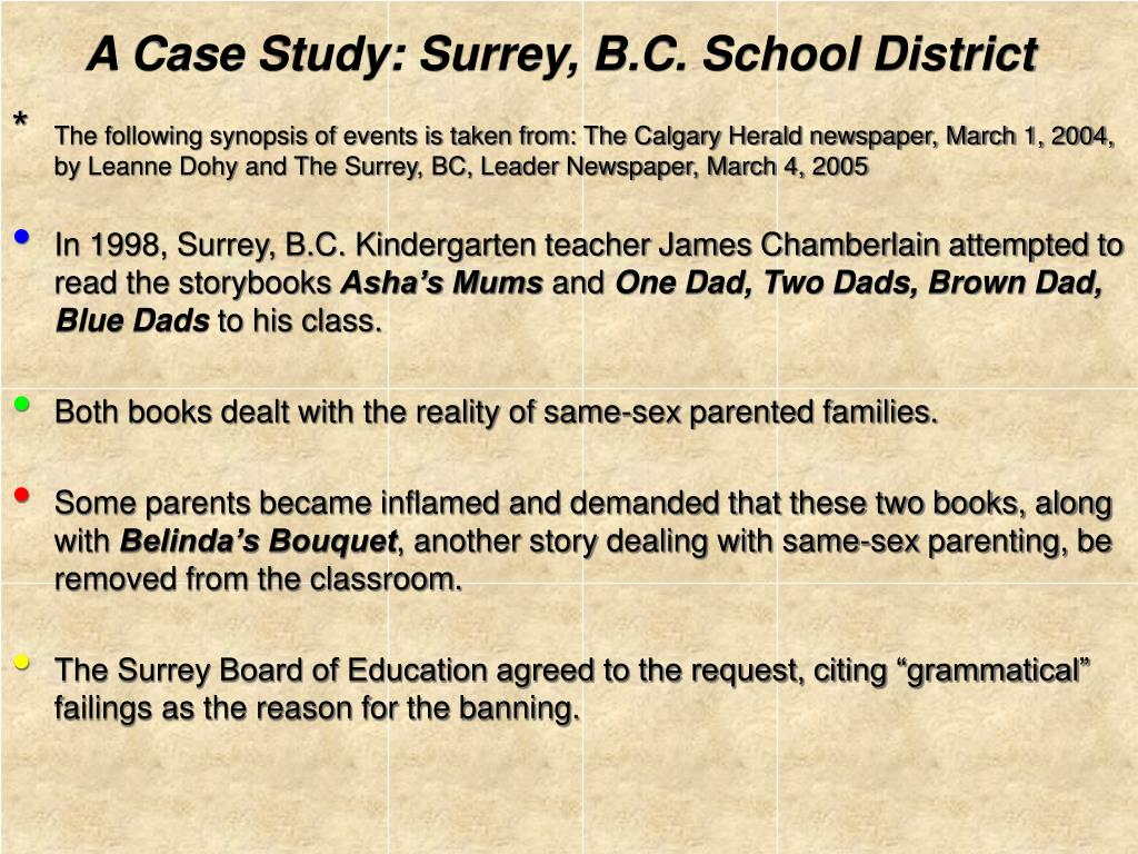 A Case Study: Surrey, B.C. School District