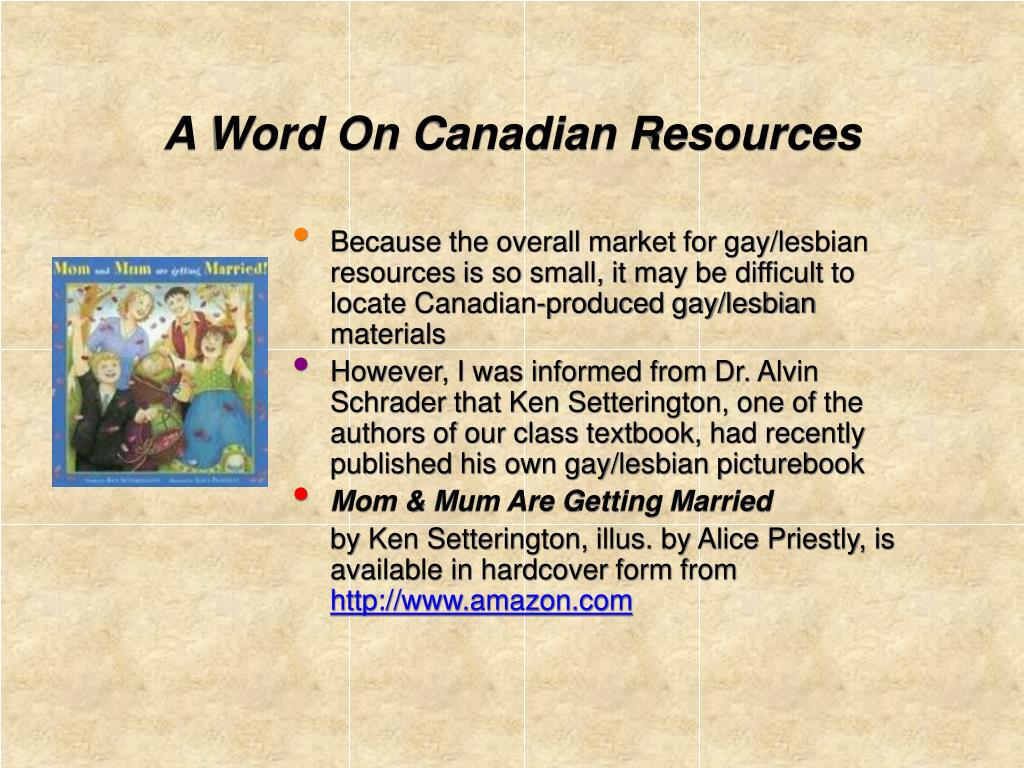 A Word On Canadian Resources