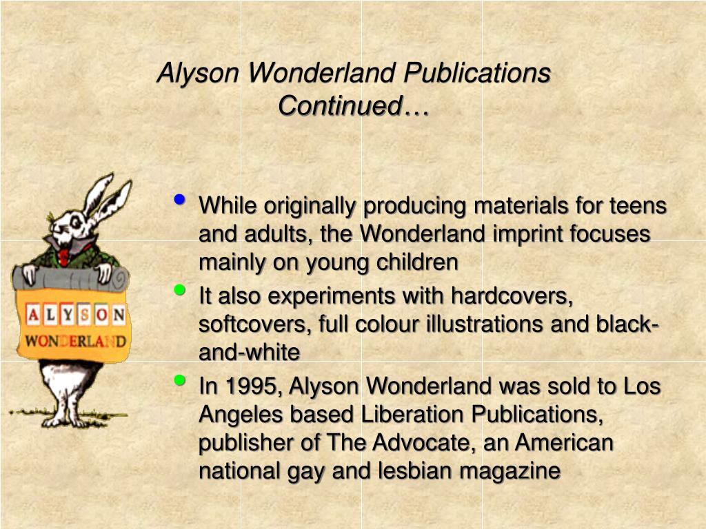 Alyson Wonderland Publications