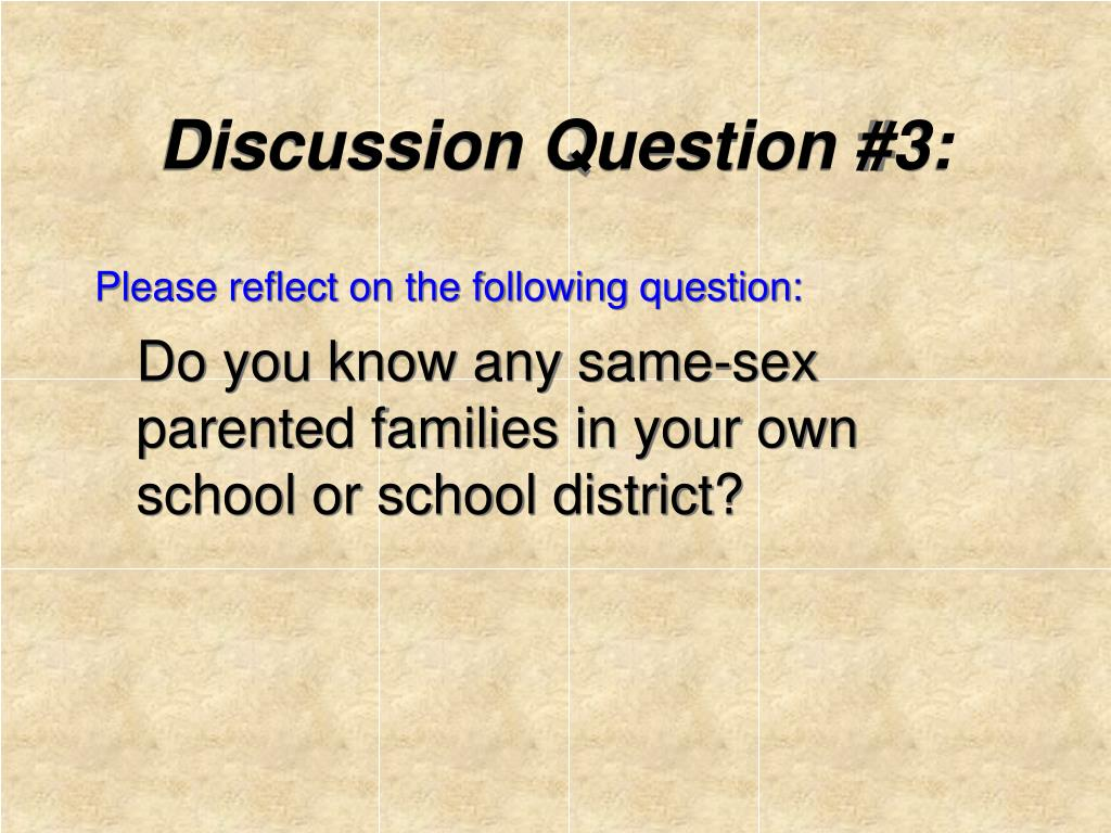 Discussion Question #3:
