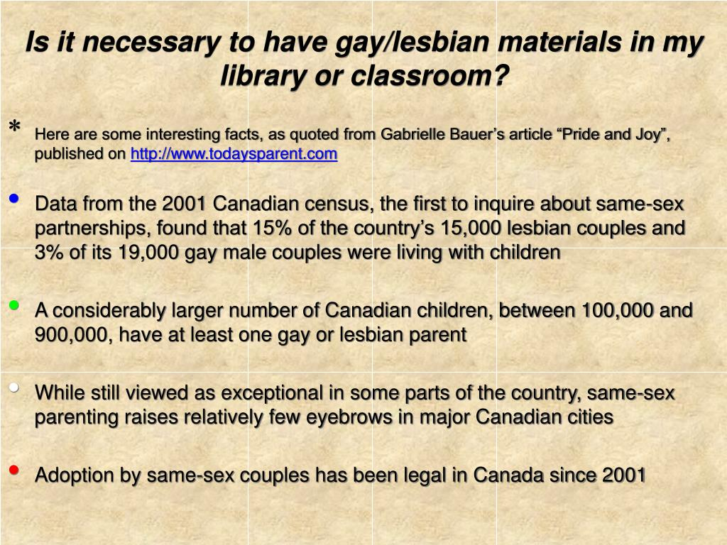 Is it necessary to have gay/lesbian materials in my library or classroom?