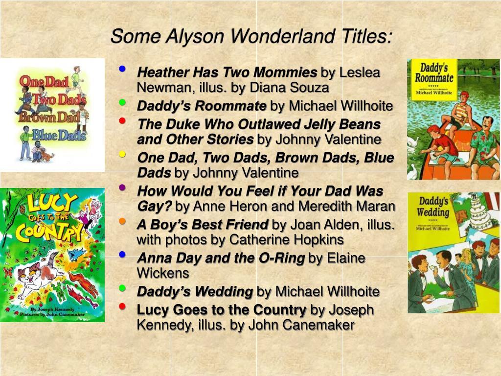 Some Alyson Wonderland Titles: