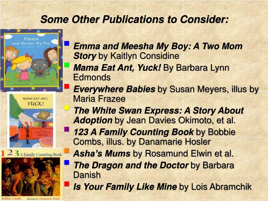 Some Other Publications to Consider: