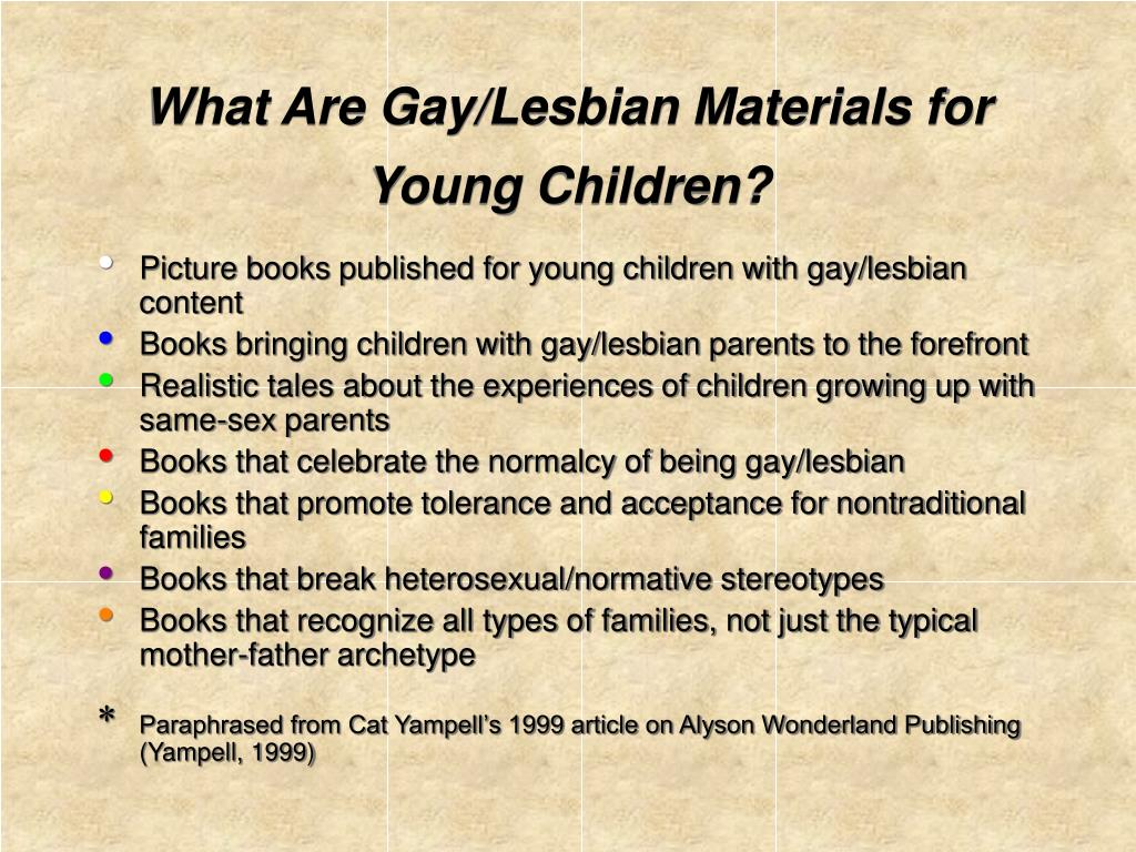 What Are Gay/Lesbian Materials for Young Children?