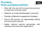 providers roles and responsibilities