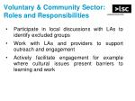 voluntary community sector roles and responsibilities