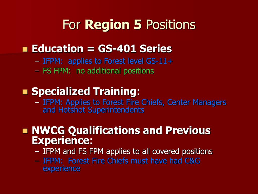 Education = GS-401 Series