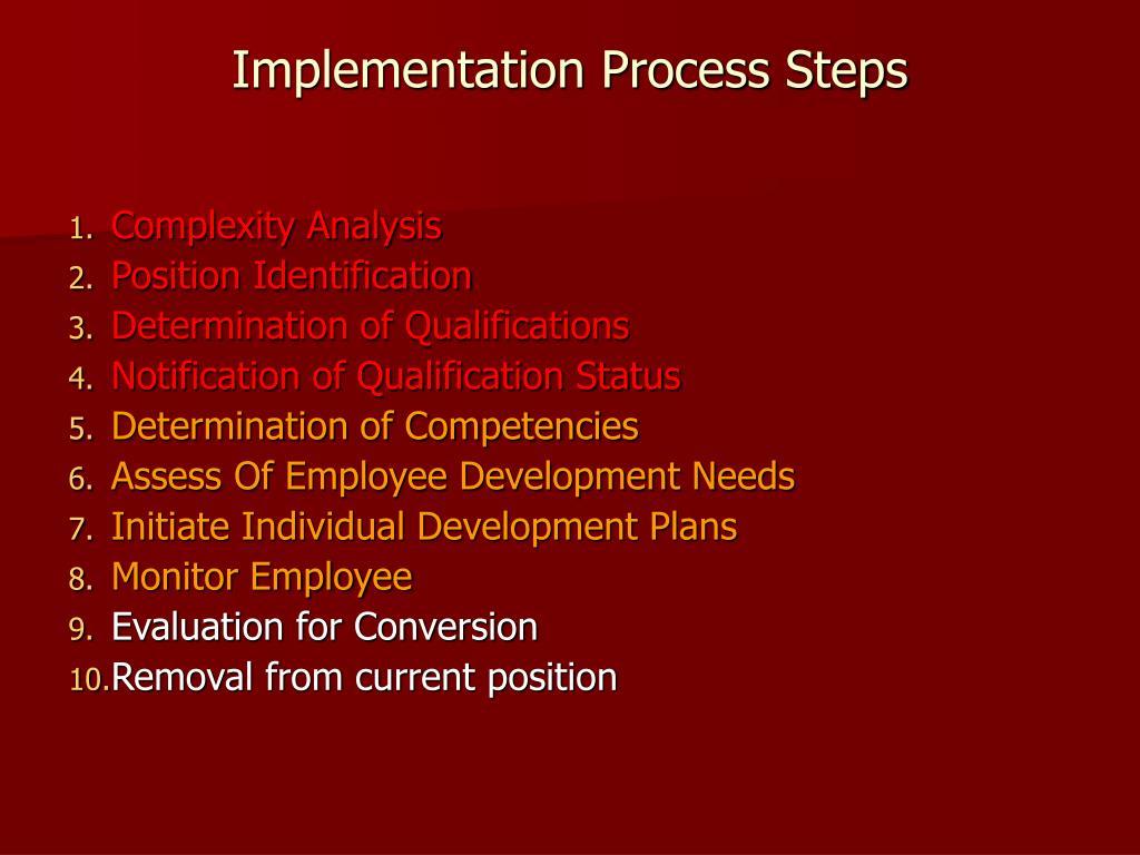 Implementation Process Steps