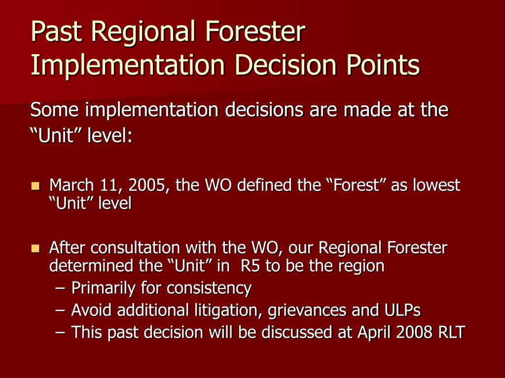 Past Regional Forester