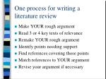 one process for writing a literature review