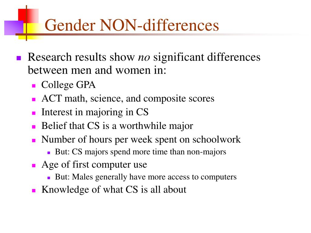 Gender NON-differences