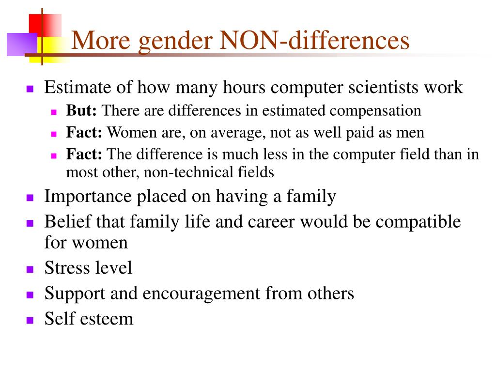 More gender NON-differences