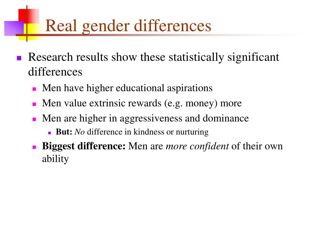Real gender differences