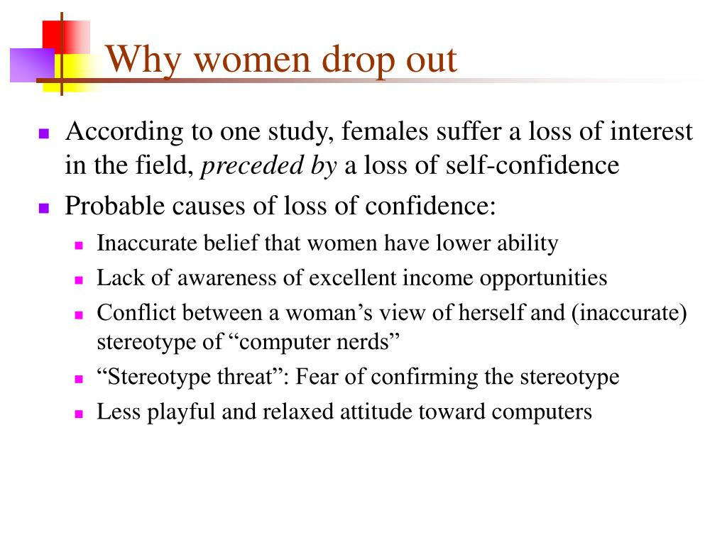 Why women drop out