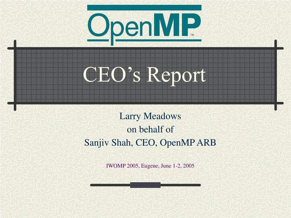 ceo s report