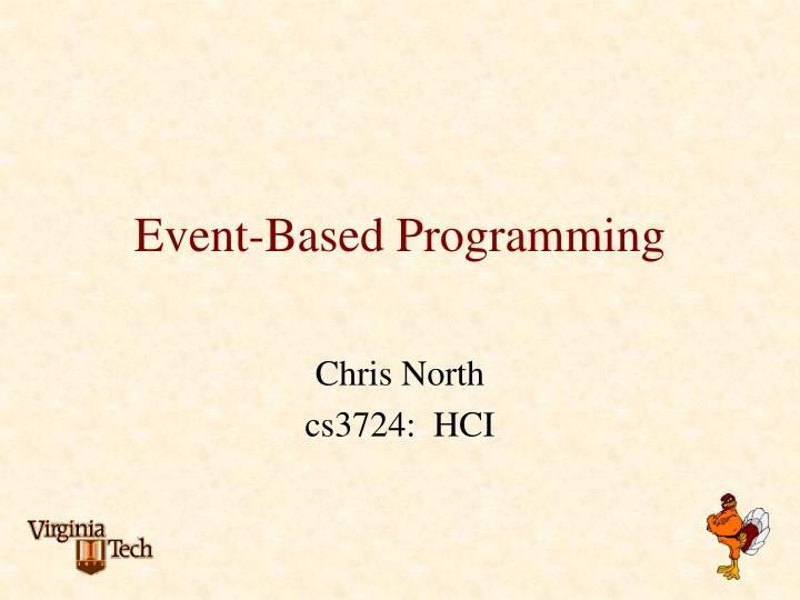 Event based programming