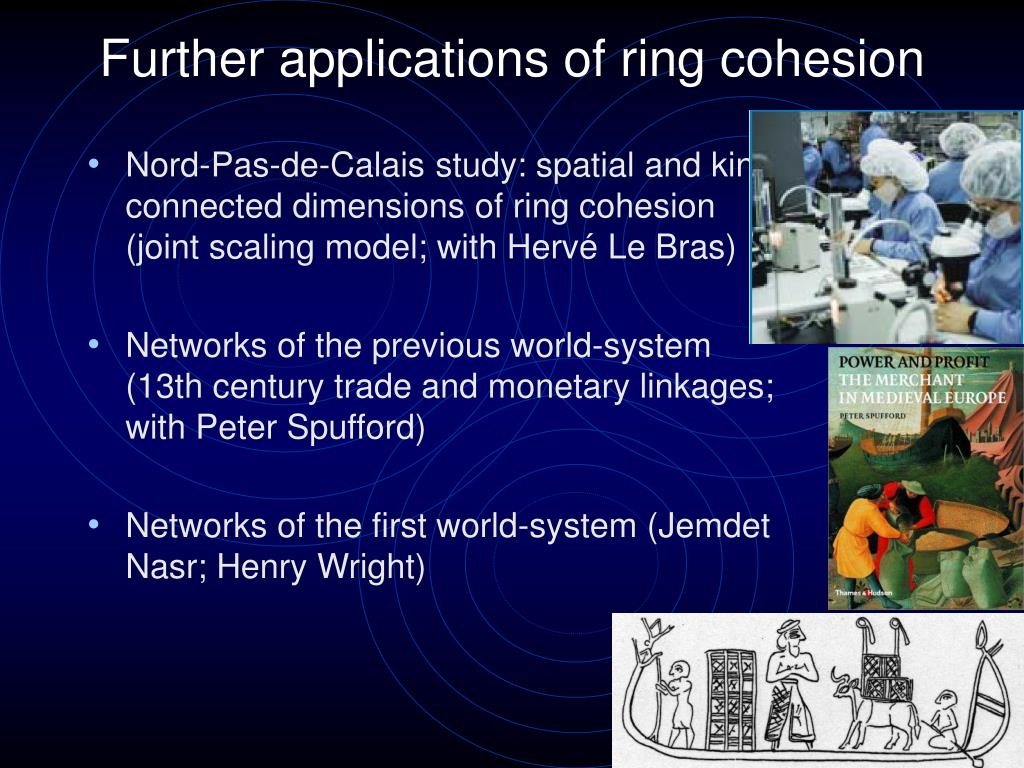Further applications of ring cohesion