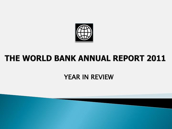 the world bank annual report 201 1 n.