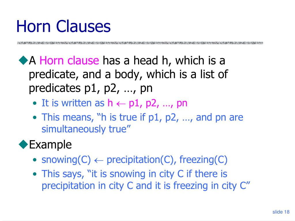 Horn Clauses