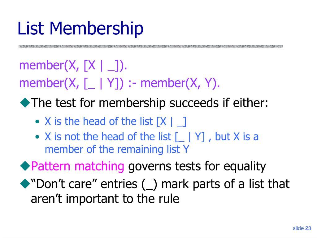 List Membership
