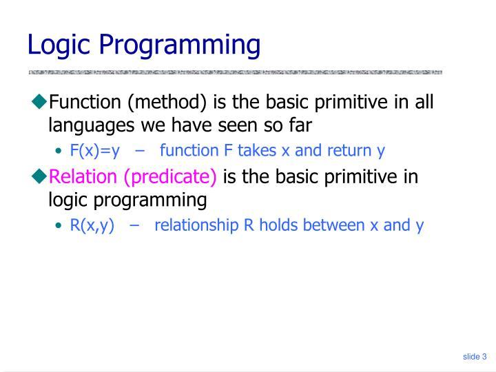 Logic programming3