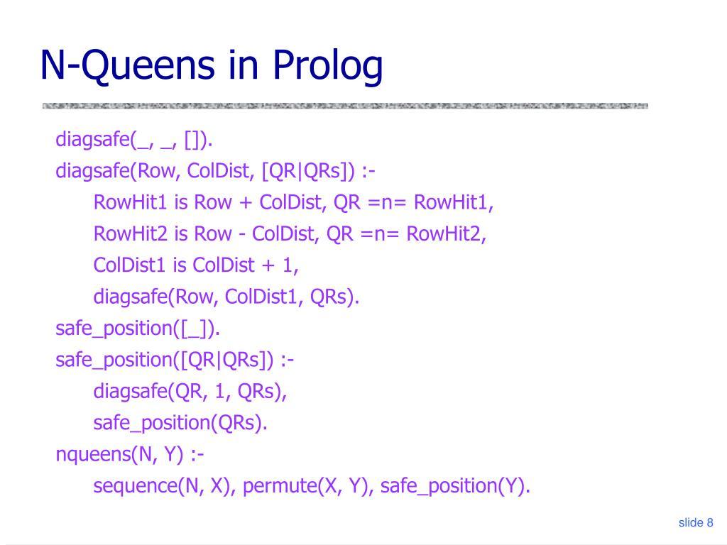 N-Queens in Prolog