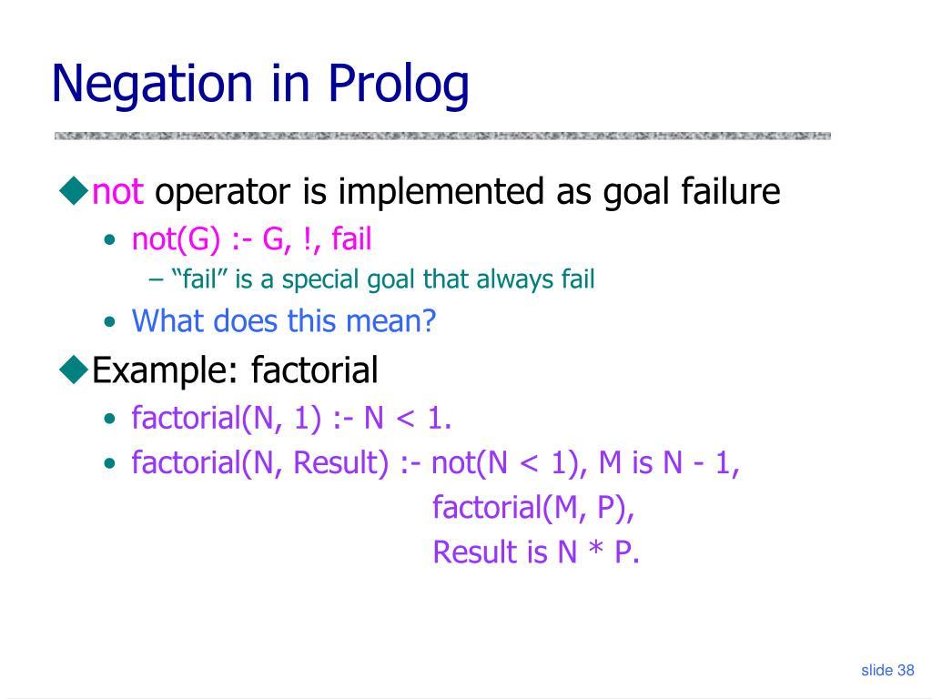 Negation in Prolog