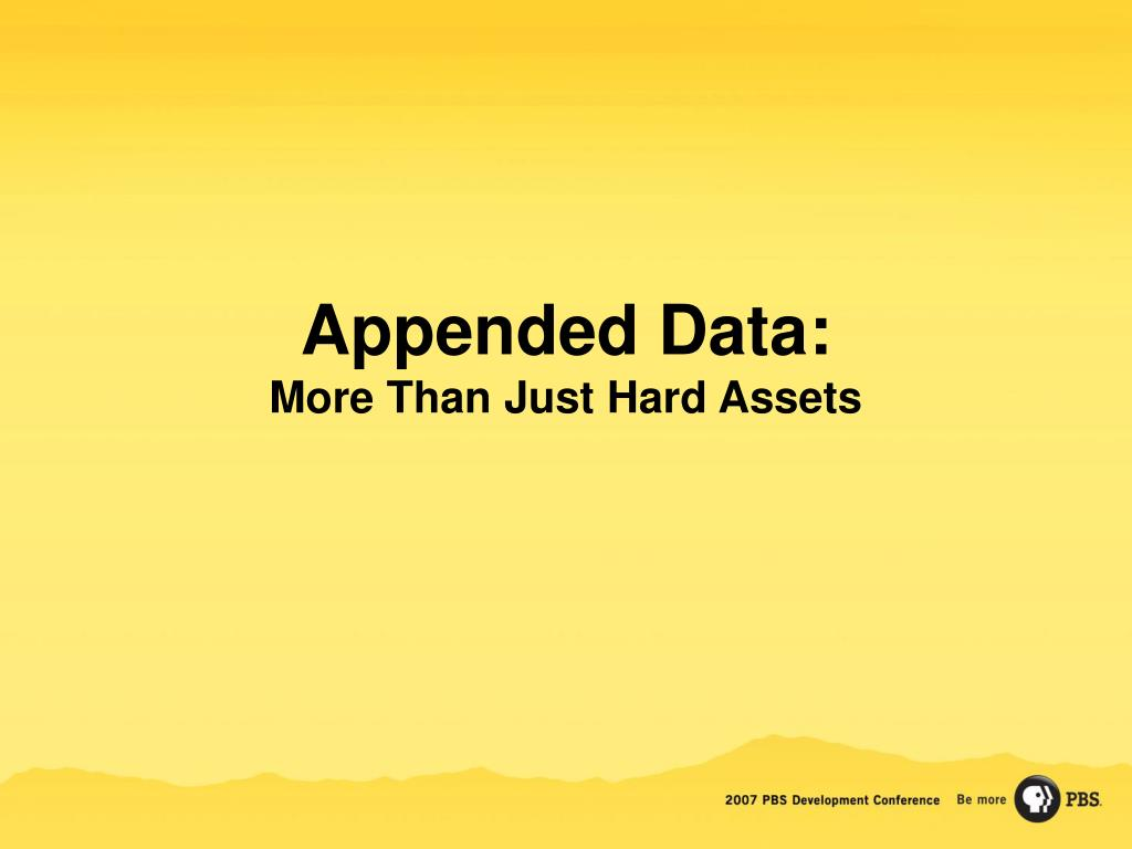 Appended Data: