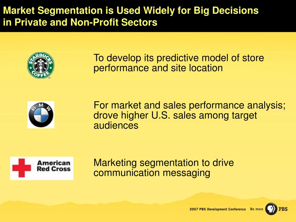 Market Segmentation is Used Widely for Big Decisions