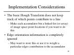 implementation considerations48