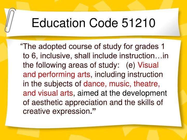 Education code 51210