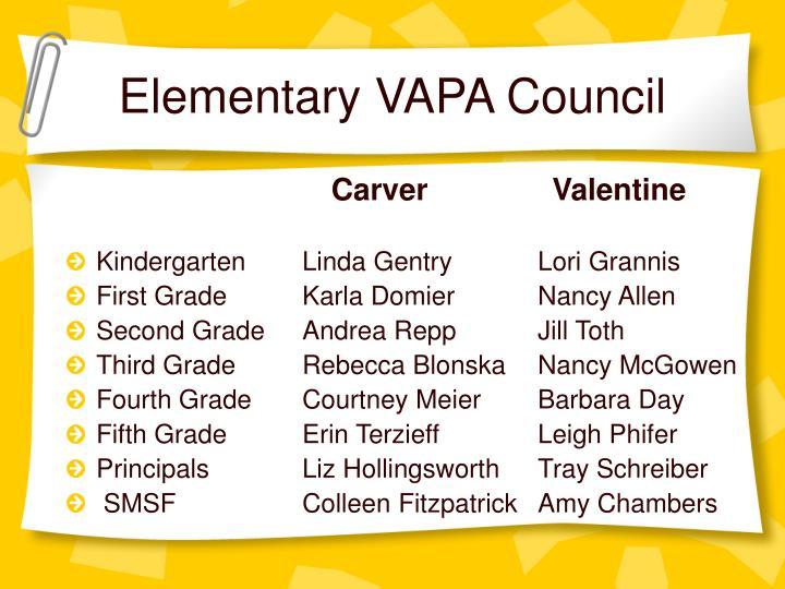 Elementary vapa council