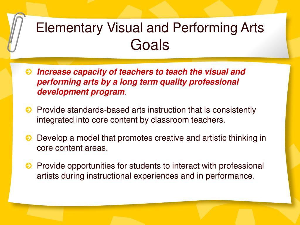 Elementary Visual and Performing Arts