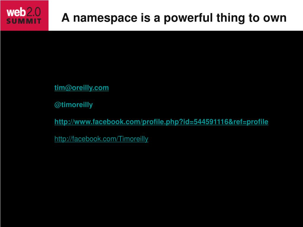 A namespace is a powerful thing to own