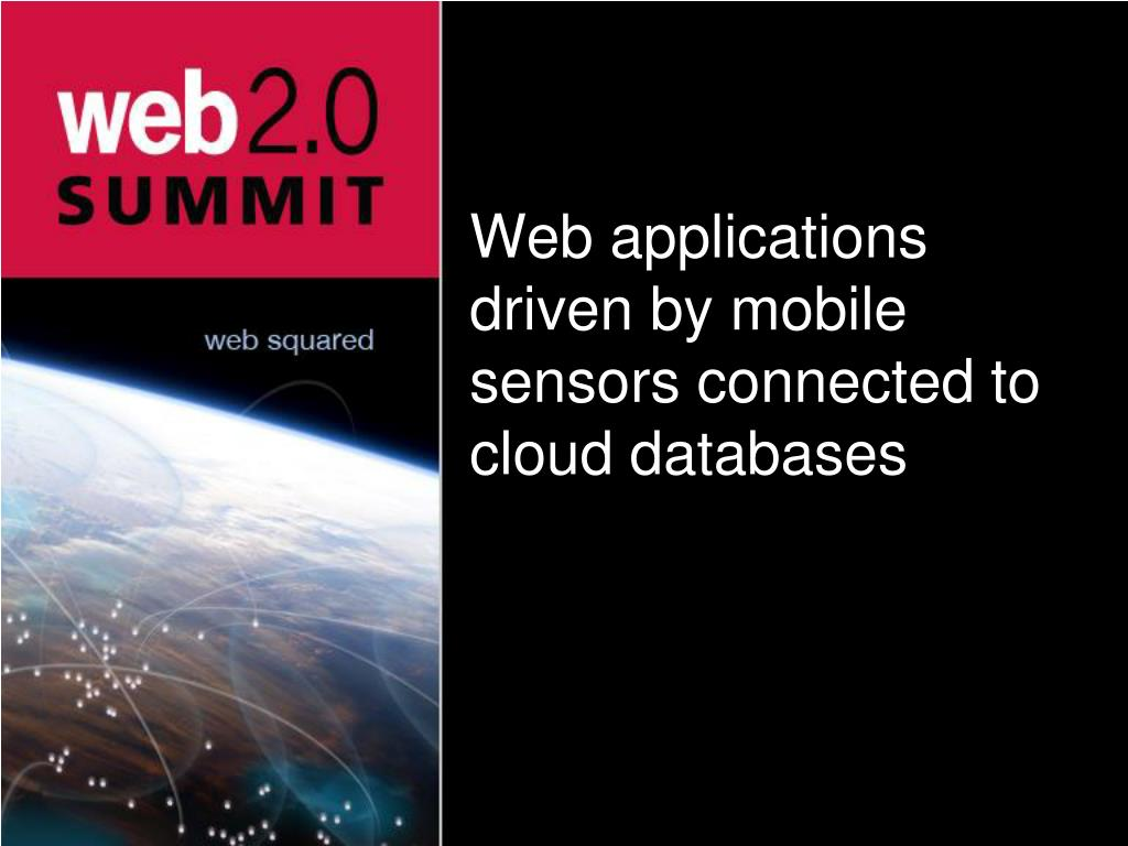 Web applications driven by mobile sensors connected to cloud databases
