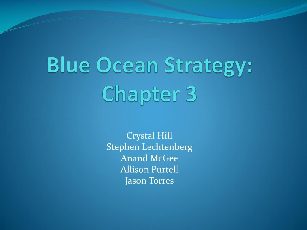 blue ocean strategy chapter 3