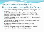 six fundamental assumptions keep companies trapped in red oceans