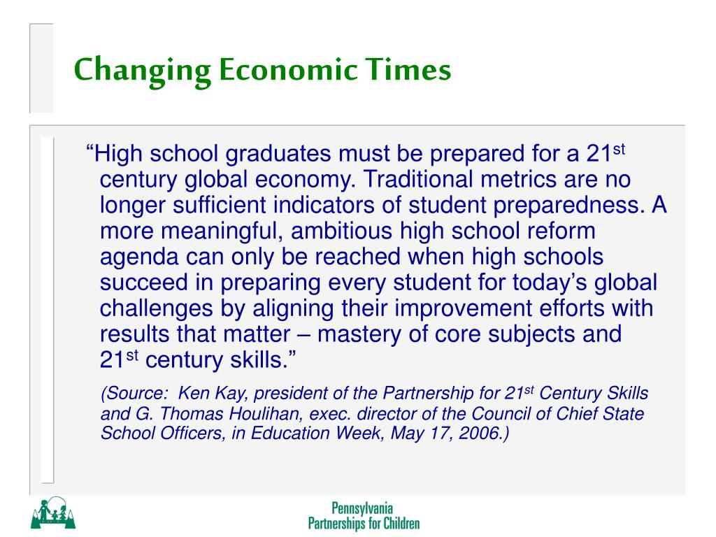 Changing Economic Times