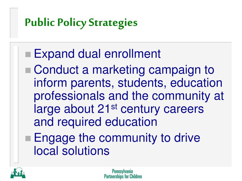 Public Policy Strategies