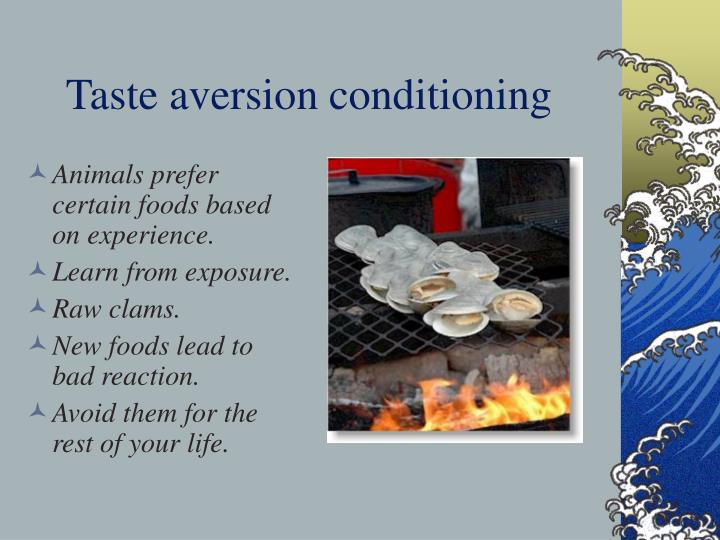 Taste aversion conditioning